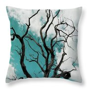 Old Twisted Tree Throw Pillow by Patricia Strand
