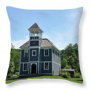 Old Two Room School House Throw Pillow