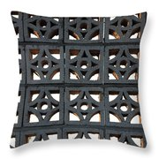 Old Ugly Fence Throw Pillow