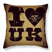Old Uk Throw Pillow