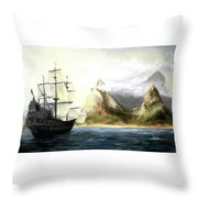 Old Vessel Throw Pillow