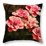 Old Victorian Fuchsia Pink Rose Throw Pillow
