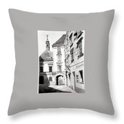 Old Viennese Courtyard Throw Pillow
