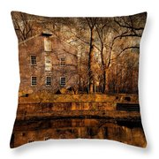 Old Village - Allaire State Park Throw Pillow