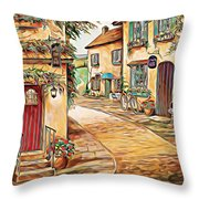 Old Village 3 Throw Pillow