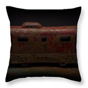 Old Vintage Caboose Number 624 Throw Pillow