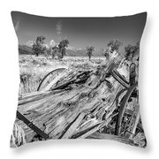 Old Wagon, Jackson Hole Throw Pillow