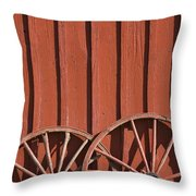 Old Wagon Wheels IIi Throw Pillow