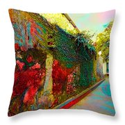 Old Wall Of The Ancient City Throw Pillow