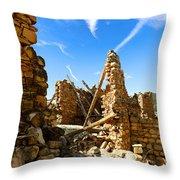Old Walls Fallen Throw Pillow