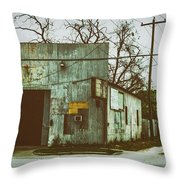 Old Warehouse Throw Pillow