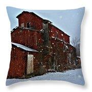Old Warehouse Throw Pillow