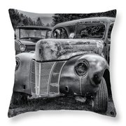 Old Warrior - 1940 Ford Race Car Throw Pillow