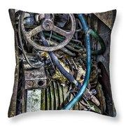 Old Washing Machine Works Throw Pillow