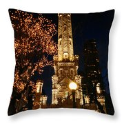 Old Water Tower, Intersection Throw Pillow