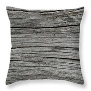 Old Weathered Wood Board Throw Pillow