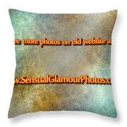 Old Website Throw Pillow