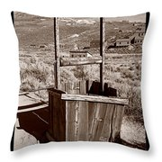 Old Well Bodie Ghost Twon California Throw Pillow