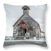 Old West Church Throw Pillow