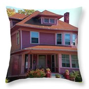 Old West End Pink 5 Throw Pillow