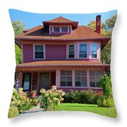 Old West End Pink 7 Throw Pillow