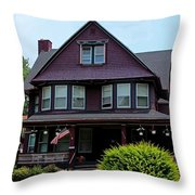 Old West End Purple 1 Throw Pillow