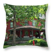 Old West End Red 2 Throw Pillow