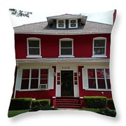 Old West End Red 4 Throw Pillow