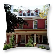 Old West End Red 7 Throw Pillow