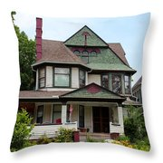 Old West End White 3 Throw Pillow