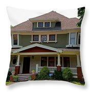 Old West End White 4 Throw Pillow