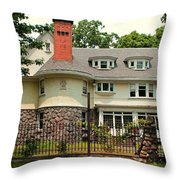 Old West End White 5 Throw Pillow