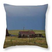 Old West Farm Throw Pillow