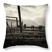 Old West Relics Throw Pillow