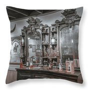 Old West Saloon Throw Pillow