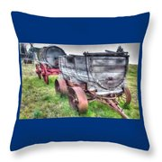 Old West Wagons Throw Pillow