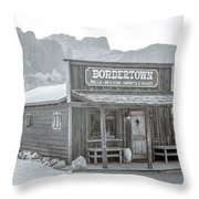 Old West With Superstition Mountains Throw Pillow