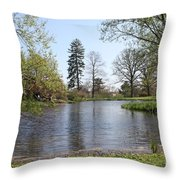 Old Westbury Gardens Tranquility Throw Pillow