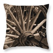 Old Western Wagon # 5 Throw Pillow