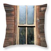 Old Western Window Throw Pillow