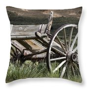 Old Wheels Throw Pillow
