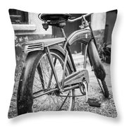 Old Wheels Throw Pillow