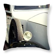 Old White Rolls Throw Pillow