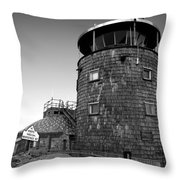 Old Whiteface Throw Pillow by David Lee Thompson