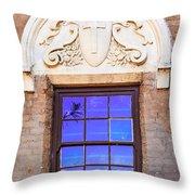Old Window Mission San Buenaventura Throw Pillow