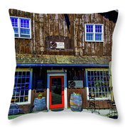 Old Wine Shop Throw Pillow