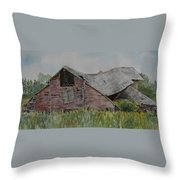 Old Wisconsin Barn Throw Pillow