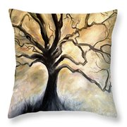Old Wise Tree Throw Pillow