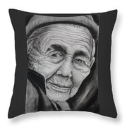 Old Woman Throw Pillow