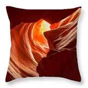 Old Woman In The Canyon Throw Pillow